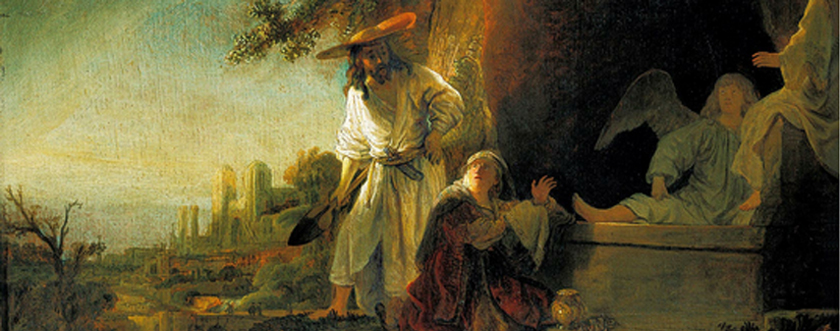 Christ and St Mary Magdalene at the Tomb by Rembrandt