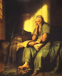 Apostle Paul in Prison by Rembrandt